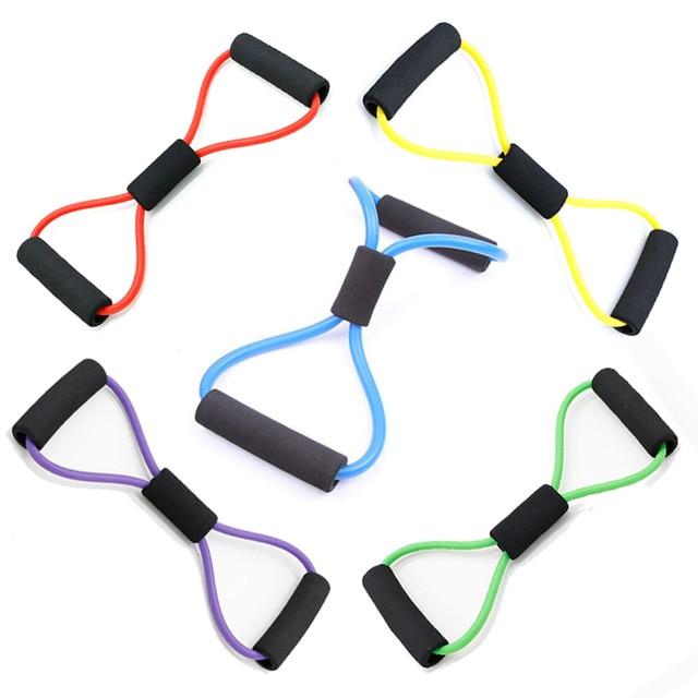 Joga gumowe zespoły oporu guma do sprzęt fitness ćwiczenia treningu pull liny stretch szkolenia pilates elastyczny expander T $