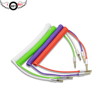 цена I Key Buy Free Shipping 1PC Brand New 3.5mm Male To Male Audio Cable AUX Car Kit Retractable Color Spring PVC 150cm в интернет-магазинах
