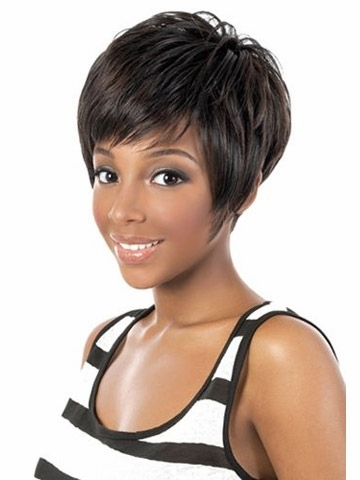 Fashion New Women Wig Sassy Afro Short length wig for black women Synthetic  african american wigs with bangs Aliexpress UK 1333937460
