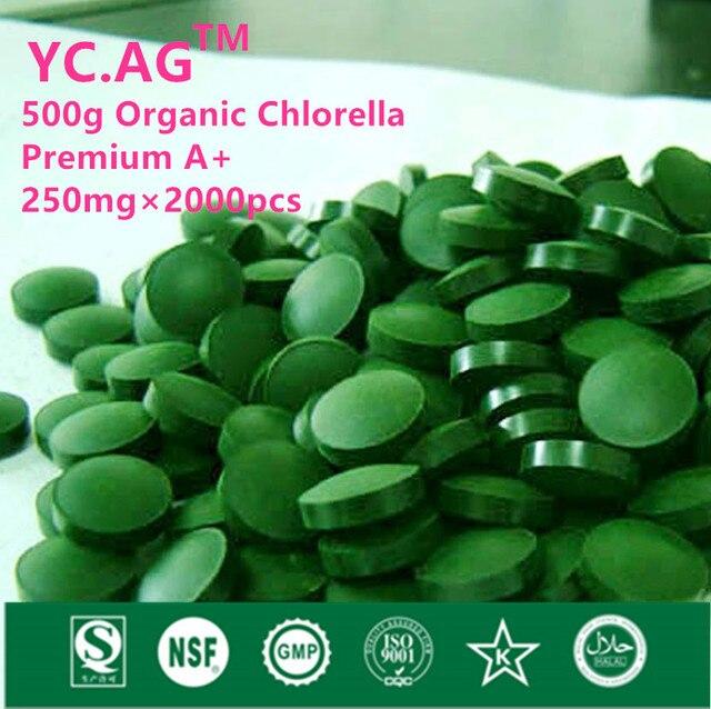 500 г 100% Органических Хлореллы Pyrenoidosa Vulgaris Таблетки 250 мг х 2000 шт. Нарушается Высокое Качество Богатых хлорофилла Белка