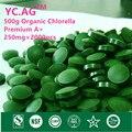 500g 100% Orgánica Chlorella Pyrenoidosa Vulgaris Tablet 250 mg x 2000 unids Roto Alta Calidad de Proteína Rica de Clorofila