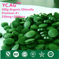500g 100% Orgânico Pyrenoidosa Chlorella Vulgaris Tablet 250 mg x 2000 pcs de Alta Qualidade Quebrado Proteína Rica de Clorofila