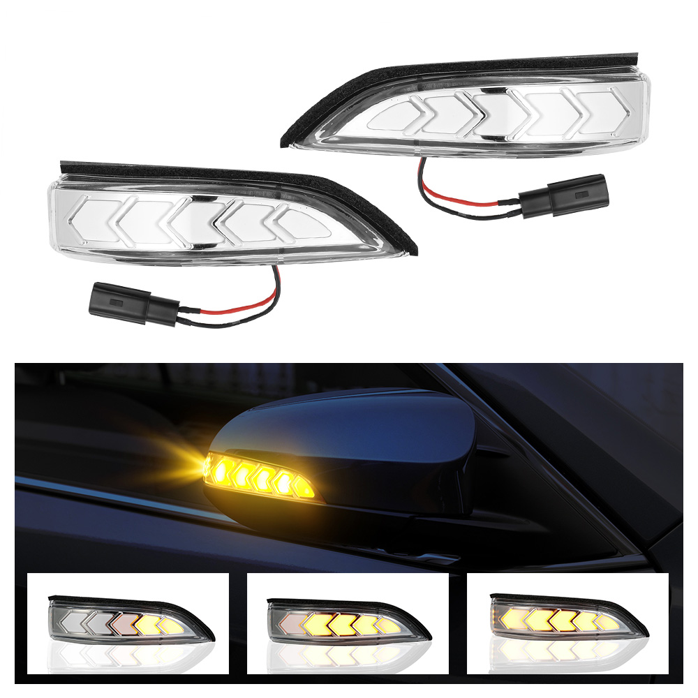 2Pcs Side Mirror Turn Signal Light Fit For Toyota Camry Avalon Venza Prius
