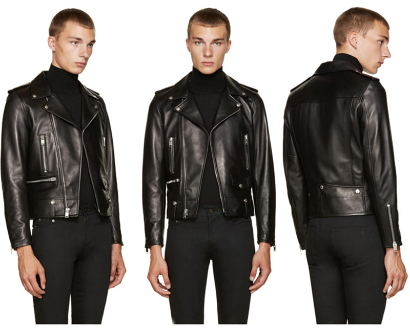HTB12IkBadjvK1RjSspiq6AEqXXaq Free shipping.brand new black mens sheepskin jacket.classic biker soft genuine leather coat.fashion plus size style slim jackets