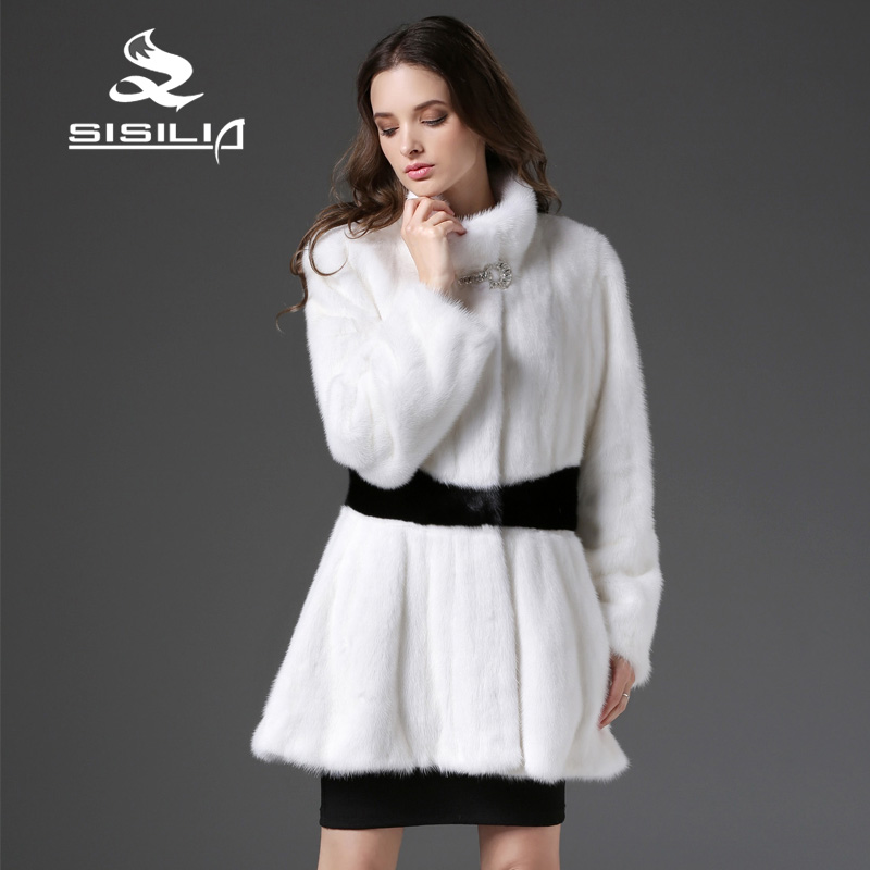 Online Buy Wholesale white mink fur coat from China white mink fur