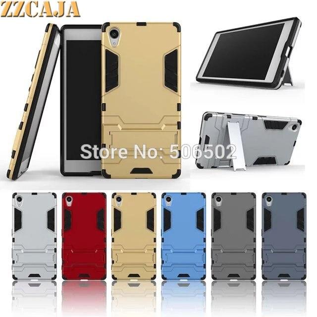 online retailer d8e02 338ff US $3.99 |Aliexpress.com : Buy ZZCAJA For Sony Xperia Z5 Premium Case 5.5  inch TPU Frame + PC Back Hybrid Slim Stand Smart Phone Covers For Sony Z5  ...