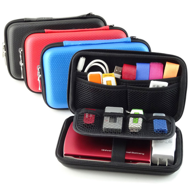 Portable Digital Accessories Travel Storage Bag for HDD, Power Bank, U Disk, SD Card, USB Data Cable, Electronic Products Pouch
