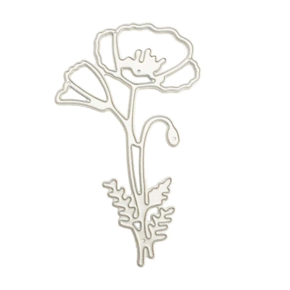 Big sale poppy flower cutting dies stencil scrapbooking embossing poppy flower cutting dies stencil scrapbooking embossing album paper card craft mightylinksfo