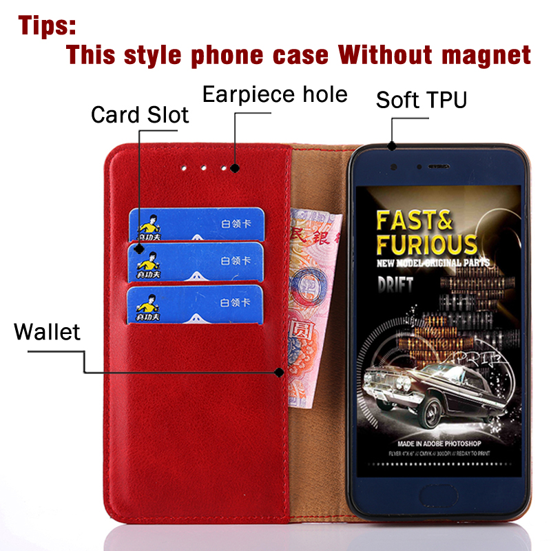 For Doogee Y8 Case Luxuey Wallet Flip Cover PU Leather Wallet Phone Case For Doogee Y8 cover Book Case With Card Slots holde in Flip Cases from Cellphones Telecommunications