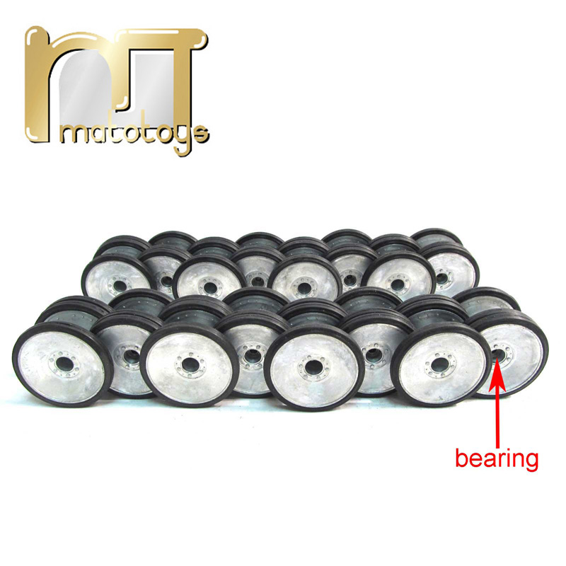 Mato 1 16 complète métal Allemand Tigre 1 réservoir en métal roue de route ensemble première version avec roulements en caoutchouc pneus marches heng Long 3818