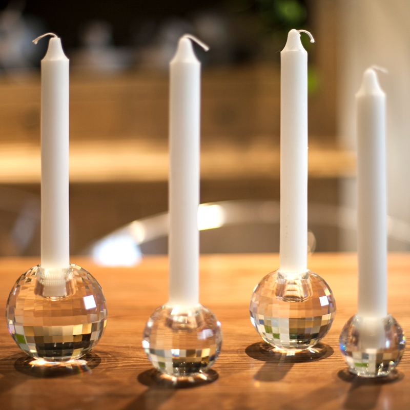 Crystal Hollow Light Ball Candle Holder Candlestick Wedding Party Xmas Decor hot