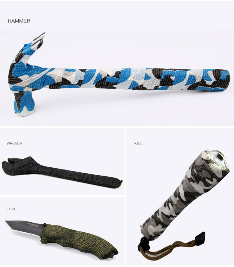 6 Rolls Självhäftande Non-woven 5cmx4.5m Camouflage Wrap Rifle Jakt - Jakt - Foto 2