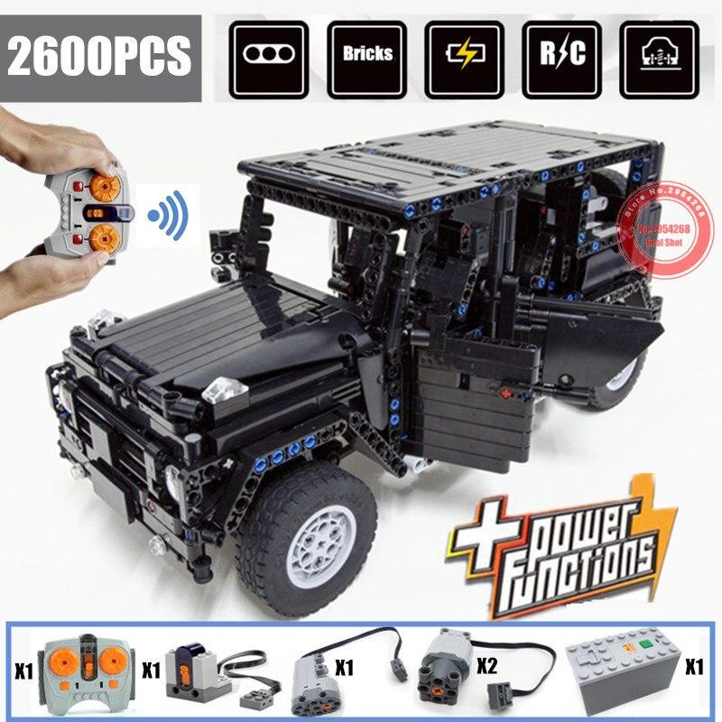 G-glass G500 AWD Wagon SUV RC hors route véhicule fit legoings Technic MOC 2425 moteur fonction blocs de construction briques jouet enfant