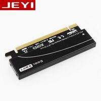 JEYI coolswift рассеивания тепла M.2 NVMe SSD NGFF для PCIE X4 адаптер MKey интерфейсная карта Suppor PCI express 3,0 X16 full speed