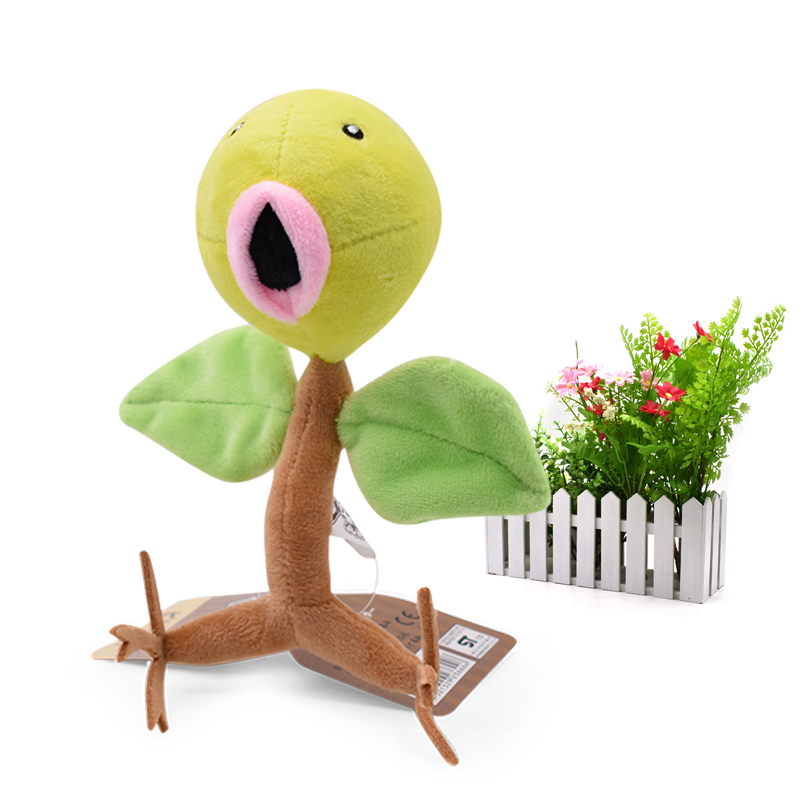 Anime Bellsprout Stuffed Plush Cartoon <font><b>Peluche</b></font> Dolls Christmas Gift Baby Toys For Children 8
