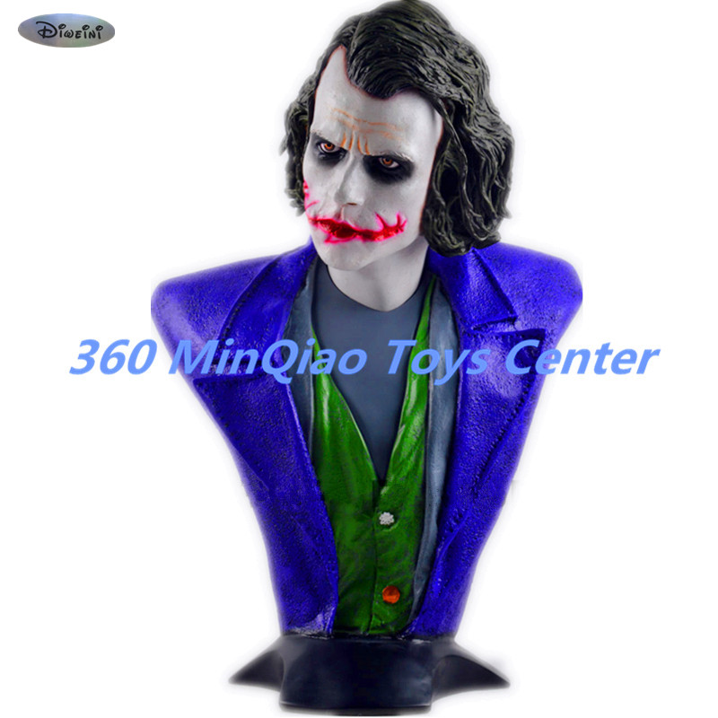Statue Avengers Batman: The Dark Knight 1:1 Bust Joker (LIFE SIZE)Half-Length Photo Or Portrait Resin Head portrait Model Avatar avengers captain america 3 civil war black panther 1 2 resin bust model panther statue panther half length photo or portrait