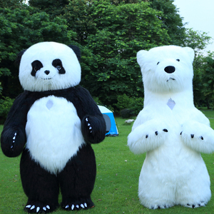 Image 4 - New Arrival 2.6M Inflatable Panda Costume For Advertising Customize Polar Bear Inflatable Mascot Halloween Costume For Adult