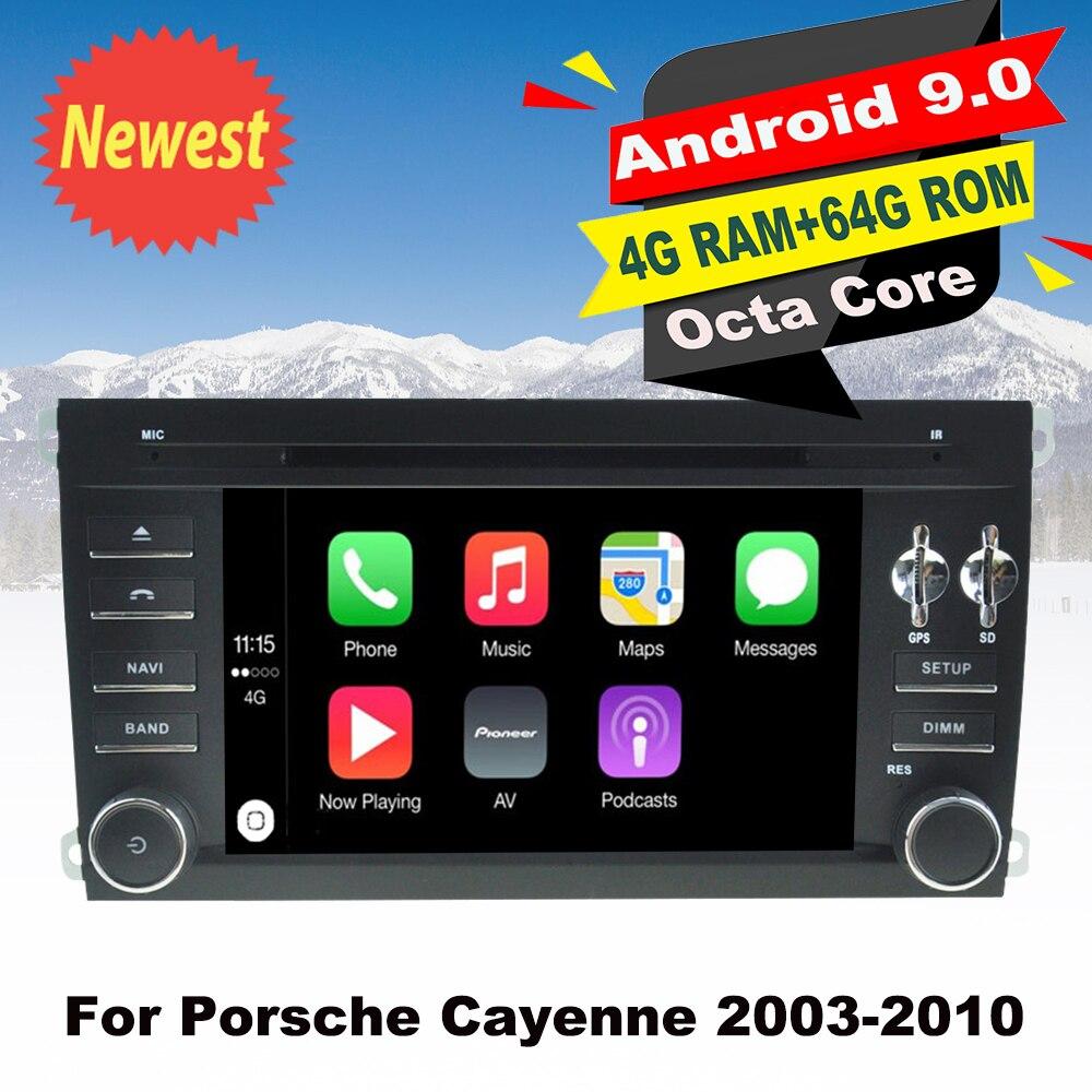 Suporte Da Apple Carplay Android 9.0 Do GPS Do Carro DVD Multimedia Player Para Porsche Cayenne 2003-2010 Auto rádio de Navegação Estéreo 64G