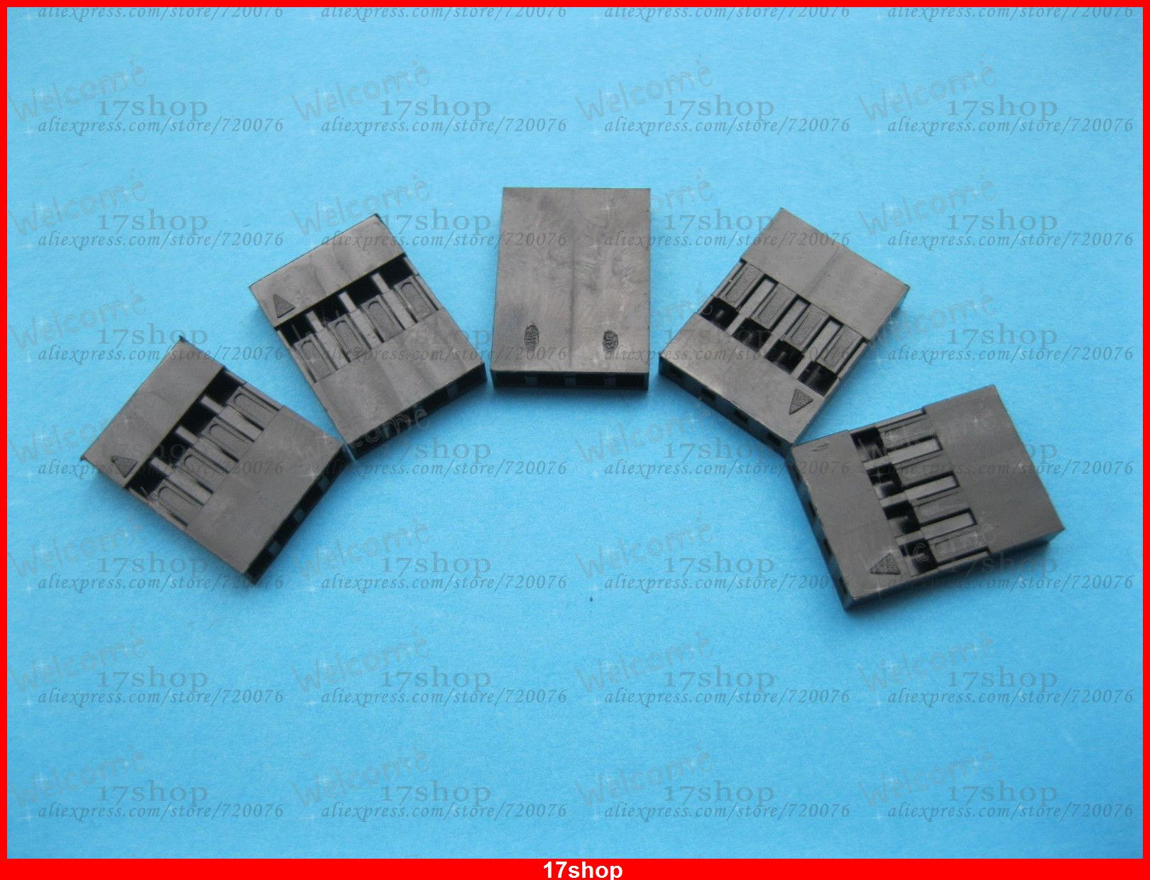 400 pcs Jumper Wire Female Housing 4 Pin Connector Pitch 2.54mm Black Color
