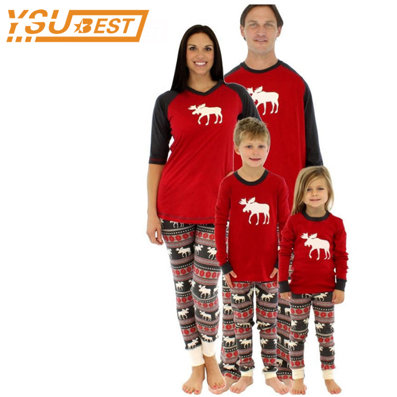 18edcd95f4 Christmas Pajamas Family Clothing 2017 Family Matching Mother Daughter  Father Son Clothes Family Clothing Sets Family Style Set