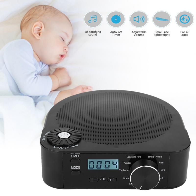 купить Baby White Noise Machine Professional Timing Music Sleep Soothers Sound Aid Device Sound Relaxation Sleep Auto-off Timer Machine по цене 1944.05 рублей