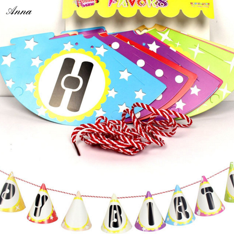 HOT HOT HOT Girls Party Bunting Flags Per Bunting Length 3m Party Favors Kids Boy Happy  ...