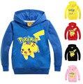 5 Цвета Pokemon Go Детские Мальчик Толстовки Толстовки Девушки Капюшоном Дети Покемон Пикачу Одежда С Длинным Рукавом Детская Одежда