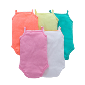 Image 2 - new born baby girl clothes sleeveless rompers summer 2019 costume boy romper newborn jumpsuit toddler clothing unisex 5pcs/set