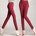 5 Colores Pantalones de Las Mujeres Más El tamaño S-5XL Color Caramelo Flaco Leggings Stretch Pantalones Lápiz Pantalones Pantalon Femme Famale Verano