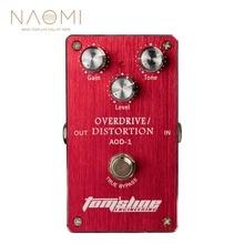 NAOMI AOD 1 Overdrive Distortion Elektrische Gitarre Effekt Pedal Aluminium Legierung Gehäuse Ture Bypass NEUE