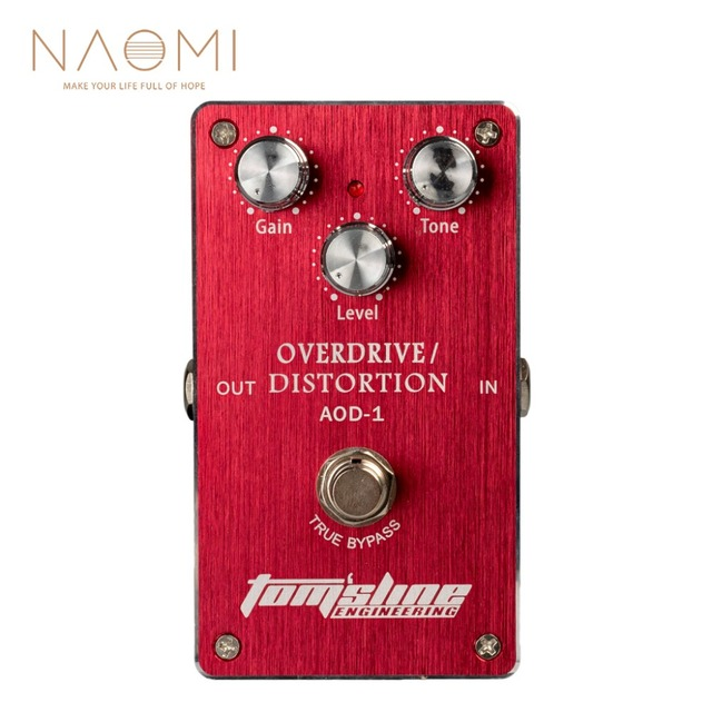 NAOMI AOD 1 Overdrive Distortion กีตาร์ไฟฟ้าเหยียบอลูมิเนียมอัลลอยด์ Ture BYPASS ใหม่
