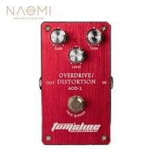 Naomi AOD 1 overdrive distorção pedal efeito guitarra elétrica liga de alumínio habitação ture bypass novo