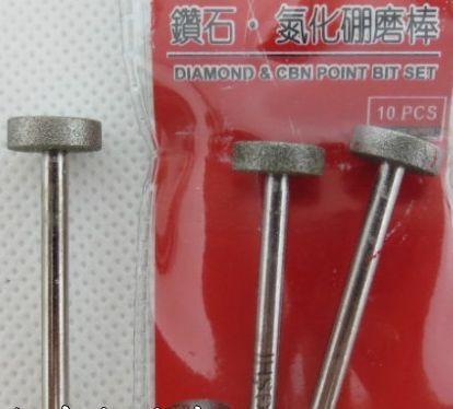 12pcs Diamond Grinding Needle Flat Cylindrical Wheel Diamond & CBN Points Bit Diamond Needle Files Mounted Points Grinding Heads