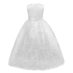 Image 2 - Petites filles נסיכה ורוד ילדה פרח שמלות כדור שמלת תחרה בנות תחרות שמלות ראשית הקודש שמלות