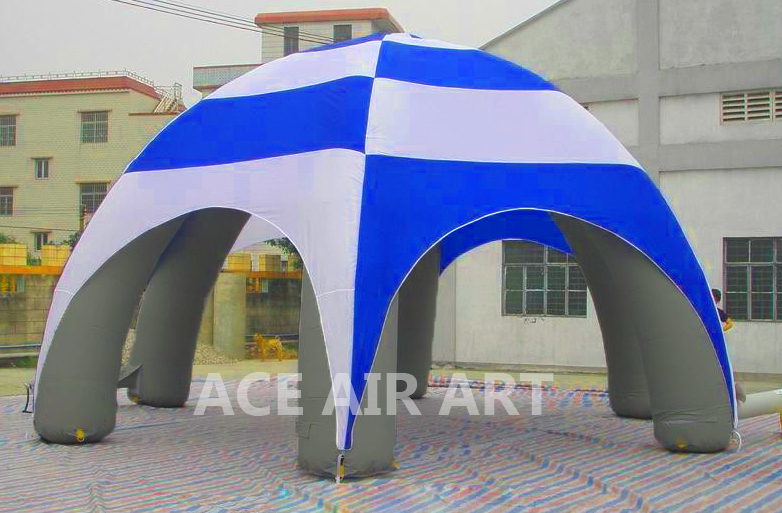 Popular White Cover Blue Spider Legs Inflatable Dome Tents for Sale