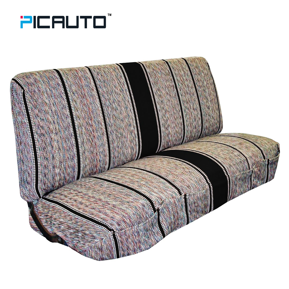 PIC AUTO Universal Bench Seat Covers Baja Blanket Bucket Seat Cover For Car, Truck, Van, SUV - Classic Ethnic Striped Fabric