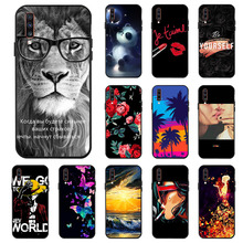 Ojeleye Fashion Black Silicon Case For Samsung Galaxy A70 Cases Anti-knock Phone Cover SM-A705FN Covers