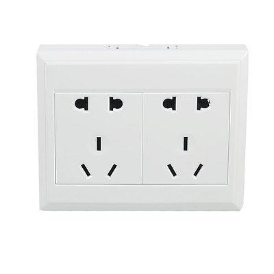Home Office 2 Pin US EU Socket AU Outlet Wall Mount Plate 10-16A AC 110-250V us au eu plug seat socket 2 gange on off switch wall mount plate ac 250v 10a