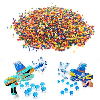1kg/lot 9-11mm  Crystal bullets Water Guns Pistol Toys Growing Crystal Water Balls Mini Round Soil Water Beads wholesale 1kg lot 100