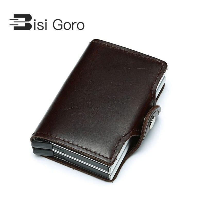 BISI GORO 2018 Men Women Genuine Leather ID Credit Card