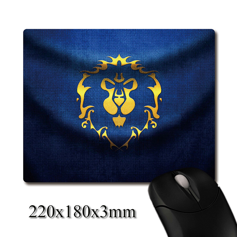 Alliance lion of Stormwind City pattern CG printed Heavy weaving anti-slip rubber pad office mouse pad Coaster Party favor gifts