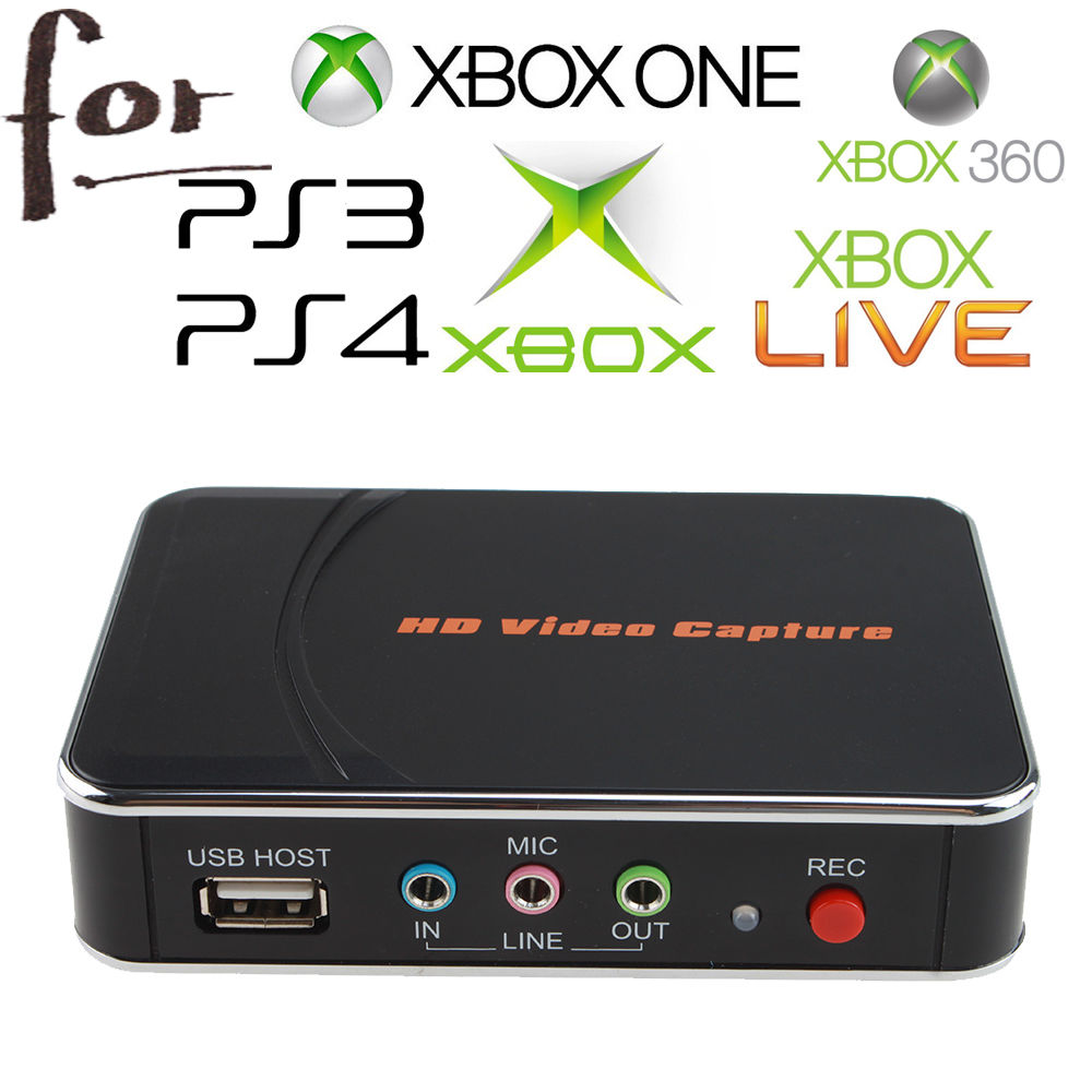 HD Game Capture vidéo 1080 P HDMI YPBPR enregistreur pour XBOX One/360 PS3/PS4 avec un clic aucun PC n'a demandé aucun réglage
