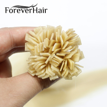 FOREVER HAIR 0,8 г/локон 16 дюймов Remy Huma предварительно скрепленные волосы с плоским кончиком для наращивания кутикулы прямые капсулы кератиновые волосы 40 г/ПАК