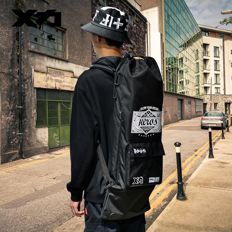 MACKAR HERO Street Pro Skateboard Backpacks 85X33cm Skate Board Carrying Bags 1000D Double Rocker Packs