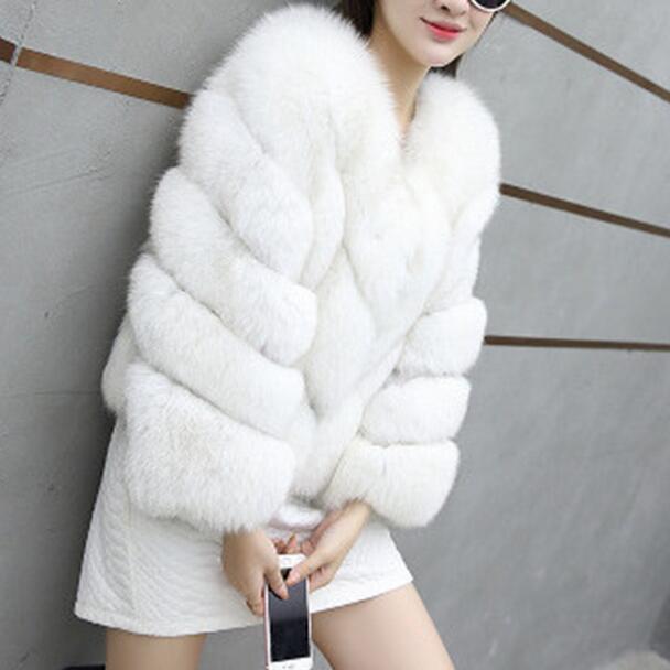 À Fausse Taille Manteaux Fourrure Df602 Vestes Plus En La Longues Dames Streetwear Manches Abrigo Mujer Nouveau D'hiver 2018 Manteau Femmes xQoCeWBrd