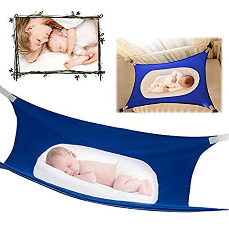 Infant Hammock For Newborn Kid Sleeping Bed Safe Detachable Baby Cot Crib Elastic With Adjustable Net