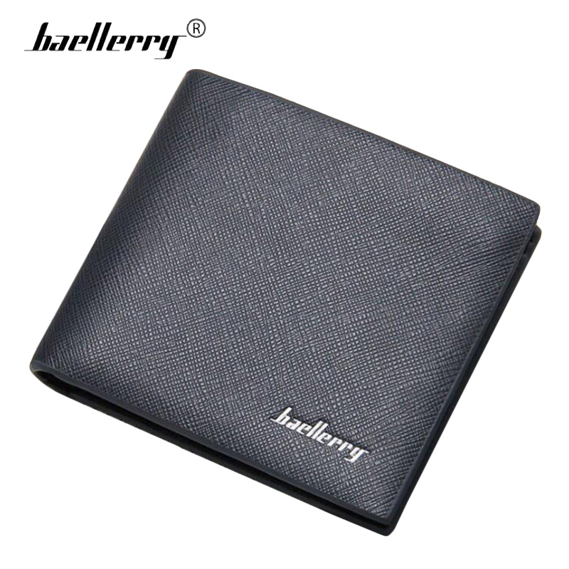 Baellerry Thin Leather Wallet Men Mini Wallet Purse Mens Wallets Luxury Brand Famous Slim Short Money Walet Male Small Clutch baellerry business black purse soft light pu leather wallets large capity man s luxury brand wallet baellerry hot brand sale