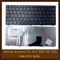 100% Original Genuine Black Russian Keyboard For Acer D255 532 532H D260 D270 NAV50 Keyboards Replacement Tested