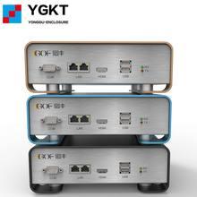 Caixa de metal eletrônica diy GOF-P01 133.4x55x109mm (wxh-d) extrusão de alumínio que dobra a base do cerco extrudido caso