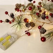 купить 2M 20leds DIY Modeling LED String Pinecone Flashing Christmas Tree Lights  For Garland Holiday Party Wedding Decoration Lighting по цене 507.37 рублей